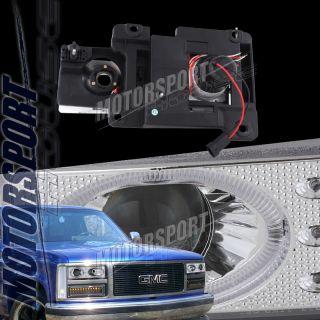 92 98 GMC Suburban Yukon 1500 2500 3500 Chrome LED Halo Projector