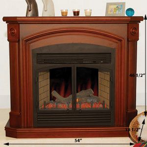 Vent Free Electric Heater Fireplace Mantel Large Remote