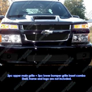 2004 2010 Chevy Colorado Xtreme Black Billet Grille Grill Combo Insert