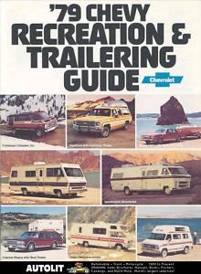 1979 Chevrolet motorhome RV Travel Trailer Brochure