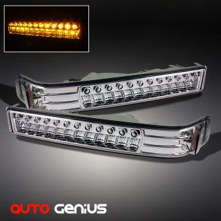 98 04 CHEVY S10 BLAZER GMC SONOMA LED BUMPER SIGNAL LIGHTS LAMPS