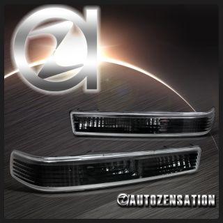 98 04 Chevy S10 Blazer GMC Sonoma Black Parking Signal Bumper Lights