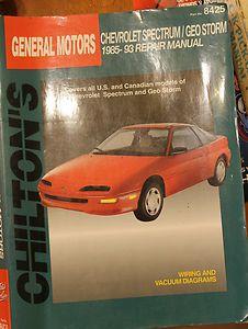 Chevrolet Spectrum Geo Storm Repair Manual Book Chilton General Motors