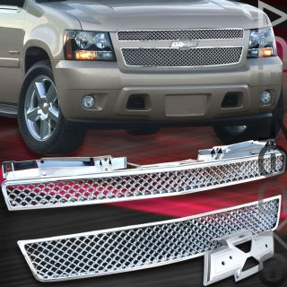Chevy 07 10 Tahoe Suburban Avalanche Front Upper Lower Mesh Grille