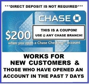 Chase Total Checking® + Chase Savings SM - Earn a $ bonus when you open a new Chase Total Checking ® account and set up direct deposit. Get $ bonus more when you open a new Chase Savings SM account, deposit a total of $10, or more within 20 business days & maintain $10, balance for 90 days.