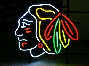 CHICAGO BLACKHAWKS Hockey Beer Bar Sport Neon Light Sign 15 x 14 FREE