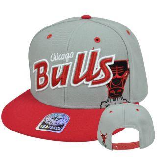 Brand Chicago Bulls Wool MVP Underglow Snapback Flat Brim Hat Cap Gray