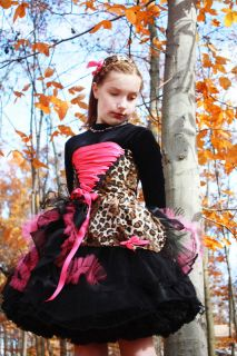 Pageant Safari Jungle Animal Print Cheetah Casual Wear Autum Custom