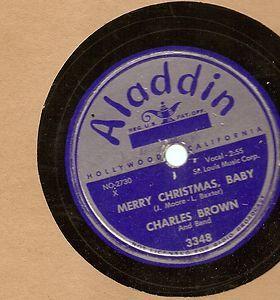 Charles Brown Merry Christmas Baby Black Night 78 Aladdin