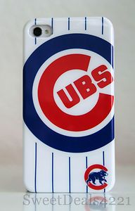 Chicago Cubs Apple iPhone 4 4s Protector Cover Case 8 16 32 64 GB
