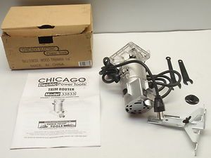 New Chicago Electric Power Tools Trim Router Item 33833 Small