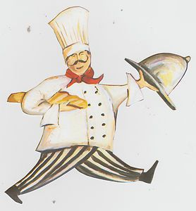 Fat Chef Kitchen Wall Decor Wall Border Prepasted Character Cut