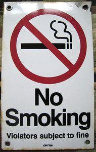 Chicago Transit Authority No Smoking Sign Porcelain CTA