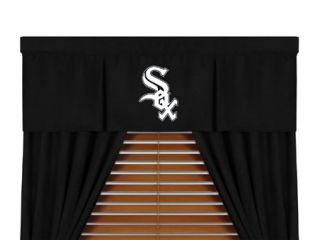 5pc MLB Chicago White Sox Window Valance Curtain Drapes