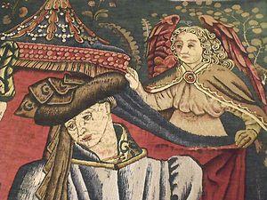 15th Century Charles DOrleans Silk Tapestry Rug Incunabula Historic