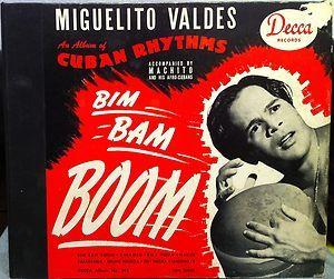Miguelito Valdes BIM Bam Boom 4X 78 RPM Decca 344 VG