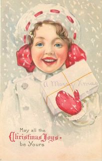 Christmas Smiling Child in Snow Package Early K29015