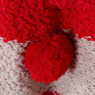 New Korea Cute Girl Red Stripe Panda Tail Knit Hoodies Jacket Coat