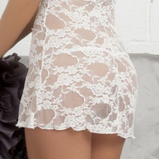 Oh La La Cheri Sheer Bridal Lace Babydolls Dress Sexy Chemise Gsttring
