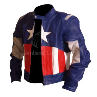 Assembled Captain America Genuine Leather Jacket Chris Evans