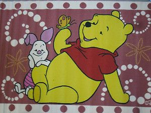 Disney Winnie Pooh Piglet 52x79 Pink Carpet Area Rug Children Play Mat