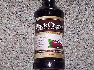 BLACK CHERRY JUICE CONCENTRATE LIQUID DRINK 100 NATURAL NO SUGAR 16 fl