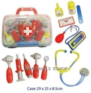 WOW KIDS CHILDRENS DOCTOR NURSE HOSPITAL MEDICAL KIT PRETEND PLAY
