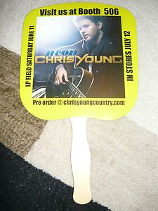 CHRIS YOUNG PROMO NEON HANDHELD FAN COUNTRY MUSIC SINGER RARE CMA FEST