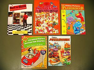 Lot 5 kids puzzle games books Search Find Hidden Picture Highlights