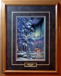 Kim Norlien River of Light II Lake Cabin Print Framed
