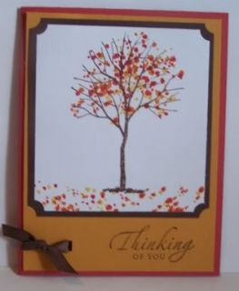 Stampin Up Handmade Greeting Card Fall Birthday PY Lot
