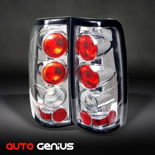 03 05 SILVERADO/SIERRA, 05 07 HYBRID CHROME ALTEZZA TAIL LIGHTS REAR