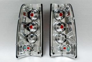 03 06 Chevy Silverado GMC Sierra Pickup Truck Black Tail Lights Lamps