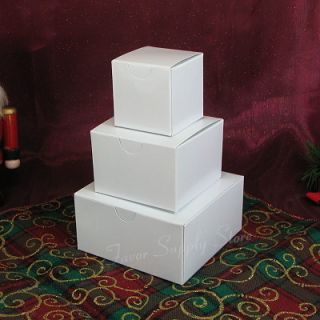 Christmas White Gift Box Tower Lot of 5 Towers Mini 3 Box