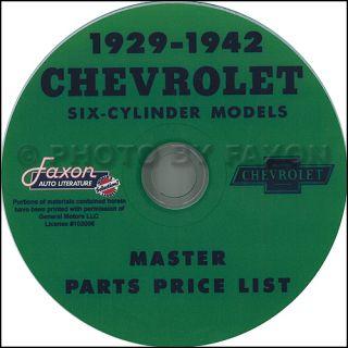 Parts Catalog CD 1929 1930 1931 1932 1933 1934 1935 Chevrolet Car