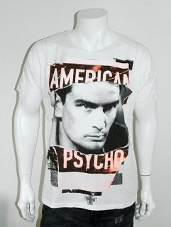 Raw Power American Psycho Charlie Sheen Screen Printed T Shirt White s