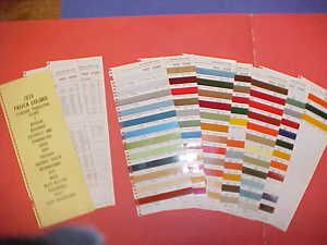 1976 Chevrolet Dodge GMC Ford Truck Color Paint Chips