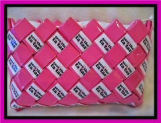 Save The Tatas Coin Wristlet Candy Wrapper Style Purse