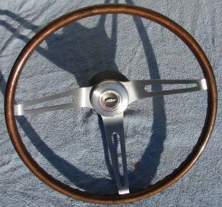 Chevy Camaro Chevelle Simulated Wood Grain Steering Wheel 16