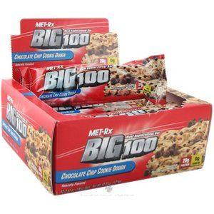 13 Met RX Big 100 Bars Chocolate Chip Cookie Dough Peanut Butter Bonus