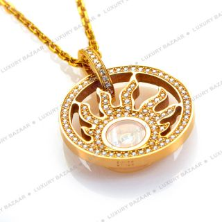 Chopard 18K Rose Gold Happy Diamonds Happy Sun Pendant Necklace
