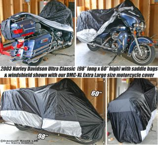 DELUXE MOTORCYCLE COVER Harley WATERPROOF COVERS (XL) (DMC XL)