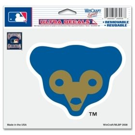Chicago Cubs MLB 5x6 Color Ultra Cling Decal (Bear Logo) Sticker Cling