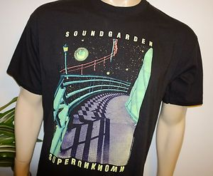 Vtg Grunge Rock Concert Tour T Shirt XL Chris Cornell