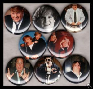 Chris Farley 1 Buttons Badges SNL Tommy Boy SC Sheep