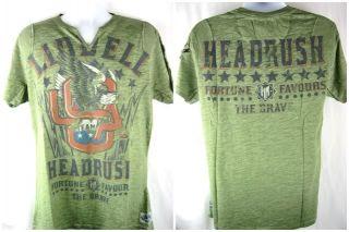 Chuck Liddell Headrush Screaming Eagle Premium V Neck T Shirt New