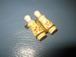 Antique Charm Fob Miniature Hand Carved Binoculars Stanhope Paris