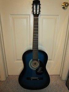 Chris Young SIGNED AUTOGRAPHED Blue Sunburst Acoustic Guitar VOICES