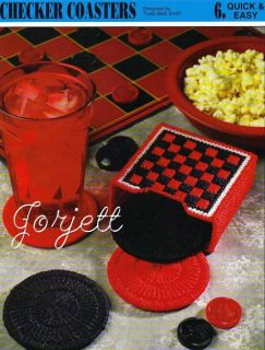 Checker Coasters Set Annies Plastic Canvas Patterns