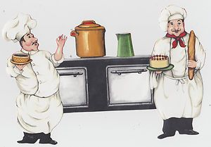 Fat Chef Kitchen Wallpaper Border Cut Out